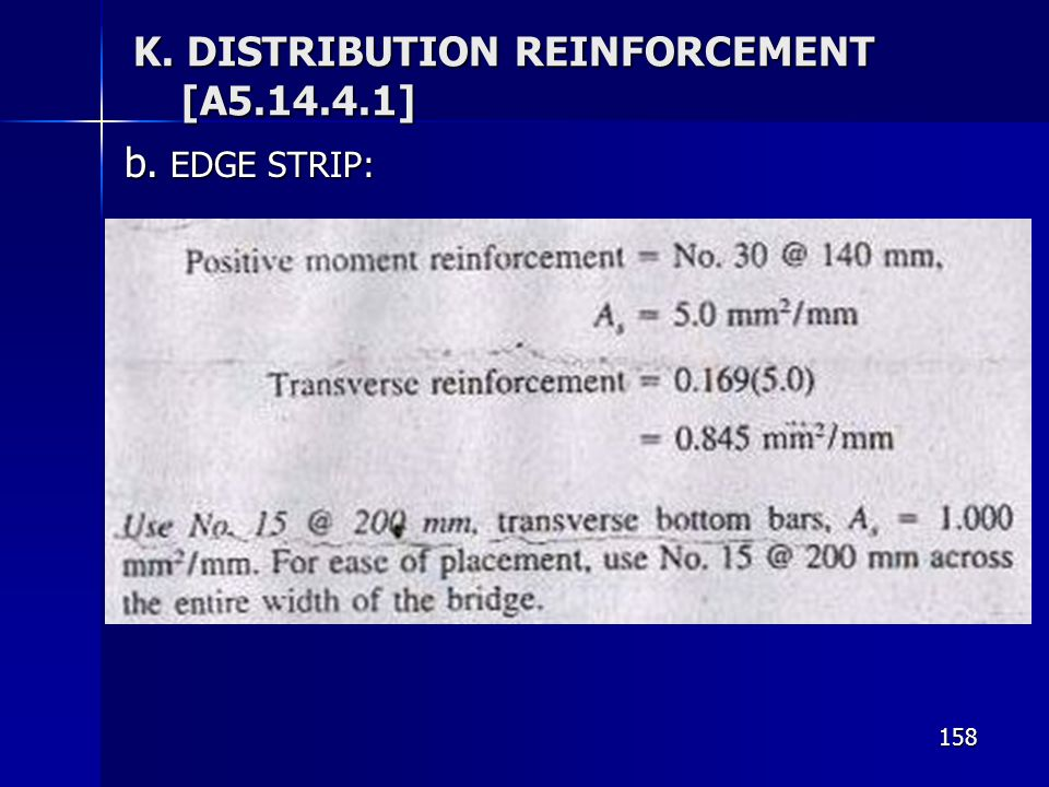 K. DISTRIBUTION REINFORCEMENT [A5.14.4.1]